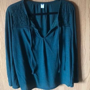 Green lace top Blouse from Old Navy